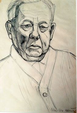 Rudolf Krause, mein Großvater; Kuli 1966; 40x60 cm