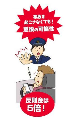 スマホ 運転 厳罰 化