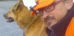 Con Husky en calle Ferrocaril... 11-2016.