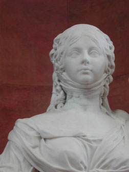 Detail from: Statue of the Prussian princess Luise and her sister Friederike, Johann Gottfried Schadow, 1797, Alte Nationalgalerie, Berlin. picture taken by Nina Möller