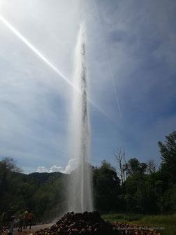 Der höchste Kaltwassergeysir der Welt