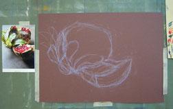 パステル画描き方 塗り方