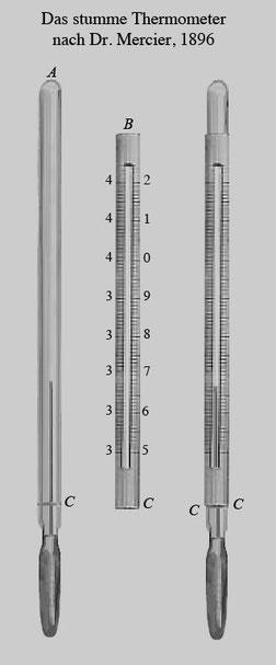 Stummes Thermometer, 1896   Katalog Hausmann
