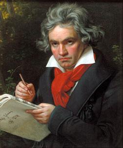 Ludwig van Beethoven (1770–1827); idealisiertes Gemälde von Joseph Karl Stieler, ca. 1820 (© gemeinfrei)