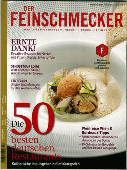 Der Feinschmecker Magazin - Die 50 besten deutschen Restaurants - Das Leben genießen, Reisen, Essen, Trinken.