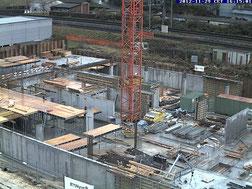 Baustelle am Längfeldweg in Biel