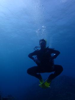 石垣島でのんびりダイビング「水中コマネチ」