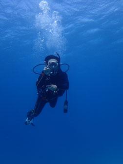 石垣島で初心者ダイビング「水面マンタに遭遇」