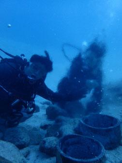 石垣島で初心者ダイビング「海底温泉に」