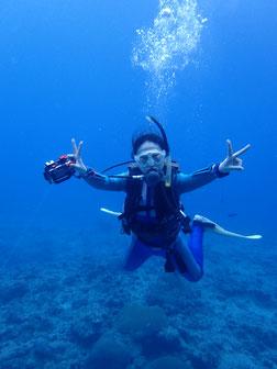 石垣島でのんびりダイビング「カメday」