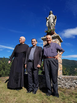 L'arcivescovo a S. Martino con Don Daniele e Don Enrico