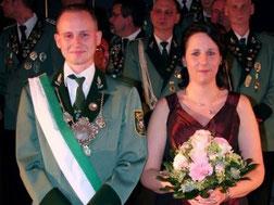 Jägerkönig Christian Purtsch mit Königin Sabrina