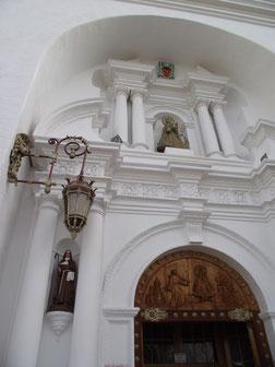 The Cathedral door in Copacabana.