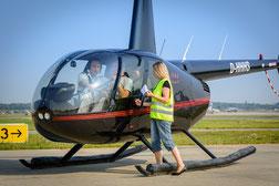 Robinson R44 vor dem Rundflug über den Pilatus/Rigi