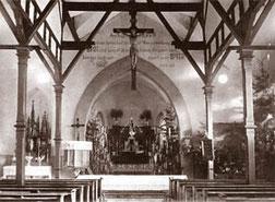 Kirche von 1900 im Scheunenstil