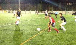 Momento del encuentro entre el Laudio B y el Vitoria. Foto: www.clubdeportivovitoria.es