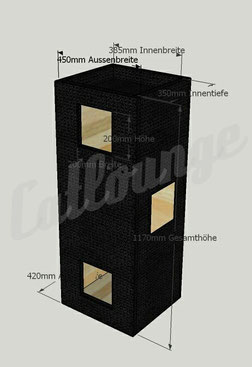 Kratzturm Pure Edge Large black Sonderanfertigun