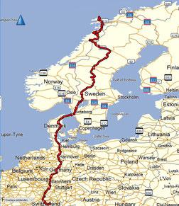 Menzingen - Vesteralen 3408 km