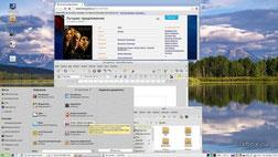 Рабочий стол LXBOX с Linux Mint (изображение кликабельно)