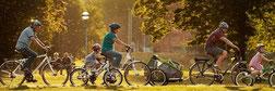 e-bikes und Kinderanhänger