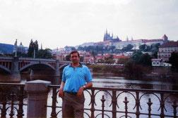 Skyline de la Ciudad Vieja -Praga (Checoslovaquia)