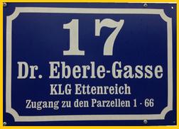 """Im Oktober 2014 erhielten wir dann die amtliche Mitteilung der MA 37, dass  dem KGV Ettenreich die """"Orientierungsnummer"""" (Hausnummer) Dr. Eberle-Gasse 17 zugeteilt wurde."""