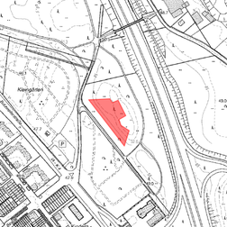 Standort der Bürgerwiese im Südareal des Bürgerparks zwischen Ossendorf und Bilderstöckchen