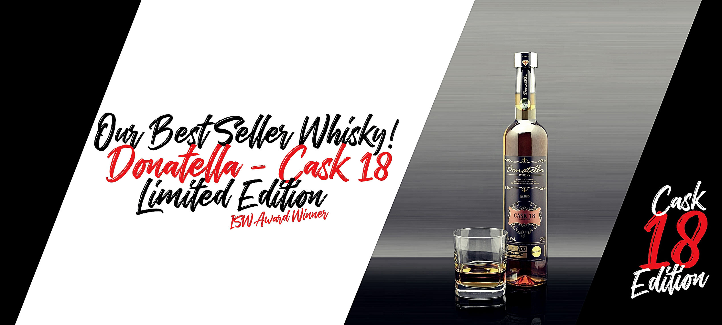 Donatella Luxury Scotch Whisky - Our Best Seller - The Cask 18 Edition