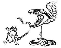 三口ヶ池の大蛇