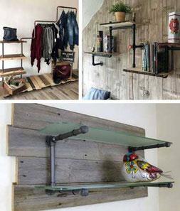 design m bel accessoires aus stahlrohr diy und unikate iltubo diy m bel aus stahlrohr und. Black Bedroom Furniture Sets. Home Design Ideas