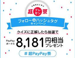 スマホキャッシュレス決済キャンペーン-PayPay8181円相当プレゼント