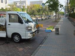 前方右側が大阪女学院正門