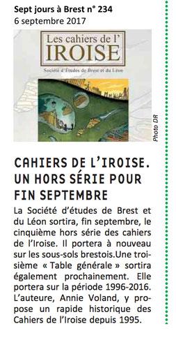 Sept jours à Brest n° 234, 6 septembre 2017