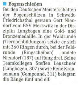 Artikel - DM in Schwedt-Friedrichsthal 2006 - BSV Merkwitz