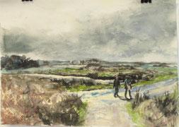 """""""Ile de Brehat"""", Aquarell, A4, 2015"""