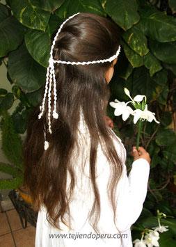 tocado de flores tejido a crochet