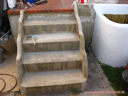 Treppe Beton selber machen Garten