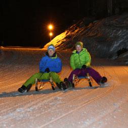 Nachtrodeln auf zahlreichen Rodelbahnen in der Schladminger 4-Berge-Skischaukel