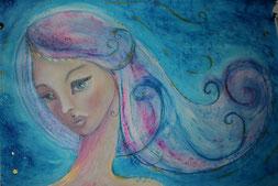 Elfenkönigin - Aquarellportrait
