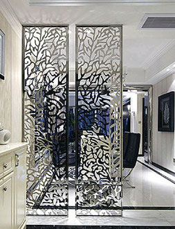 decorative metal screen indoor