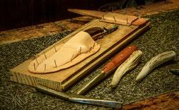 Diaporama : Fabrication d'un étui à couteau