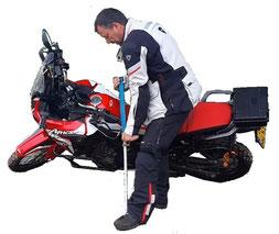 reis gereedschap, tyre-pro set, banden lichter, wielmoer sleutel, licht gewicht gereedschap, motorband repareren, lekke band, velg drukker, bead breaker, motorfiets, omgevallen motor, motorfiets optillen, motion pro, bead pro,