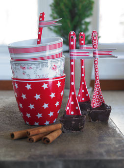 Greengate Latte Cup Star red