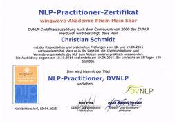 Zertifikat NLP-Practitioner Christian Schmidt in Saarlouis im Saarland