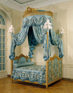 18th century bed at the Getty