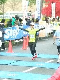 福知山マラソン2012ゴールシーン