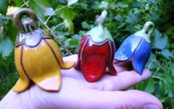 klingende Glockenblumen Keramik aus Töpferei Schneeglöckchen