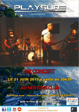 Playsure concert 21 juin 2015