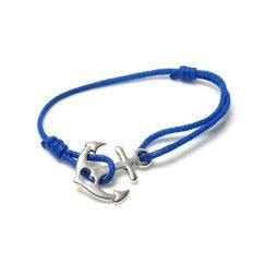 Ankerarmband - blaues Armband mit einem Anker - Themenschmuck
