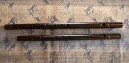 オリジナル横笛C管と比べて 管尻をながくしました。